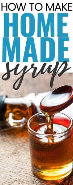 How To Make Homemade Syrup Here's an easy recipe to make your own syrup. If you have wanted to try your hand at homemade syrup, this is an easy DIY recipe! Homemade Pancake Syrup, Homemade Pancakes, Easy Homemade Syrup Recipe, Best Pancake Syrup Recipe, Pancake Recipes, How To Make Syrup, How To Make Homemade, How To Make Pancakes, Food Wishes