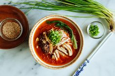 Tantanmen, or dandan noodles, is a specialty noodle dish of China and Japan recognized for its red soup, which is known for its incredibly spicy broth.