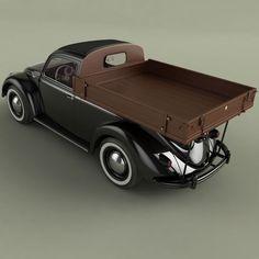 volksvagen beetle pick-up 3d model max obj fbx 8