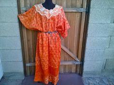 1960's   Kaftan Maxi Festival Dress,  Embellished, embroidered, 60's Maxi dress, Boho, Hippie,  Festival Dress Size M to XL by eleanorfayesfashion. Explore more products on http://eleanorfayesfashion.etsy.com