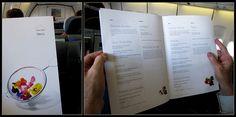 Lufthansa Menu Business Class   SFO - FRA