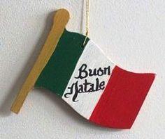 Italian Flag Christmas Ornament
