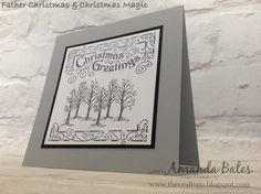 The Craft Spa - Stampin' Up! UK independent demonstrator : Father Christmas Magic Trees!
