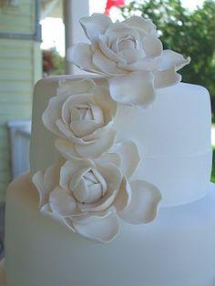 close up of gardenias