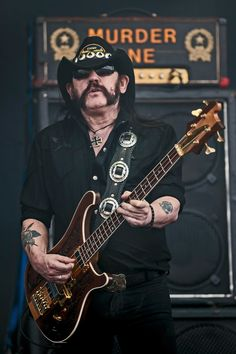 Lemmy Kilmister Motorhead.  R.I.P. You were a legend. Rock in forever, wherever you are right now m/