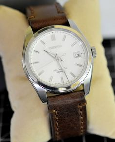 Seiko Sarb035 automatic dress watch on vintage leather band 6R36 LNIB Image 2