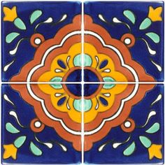 Talavera Tile - Mexican Connexion for Tile This is a nice pattern for a kitchen backsplash
