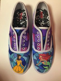 Hand Painted Shoes Made to Order The Little by NataliesCustomShoes