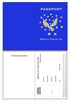 passport template pdf 10  Passport Templates - Free Word, PDF Documents Download | For E ...