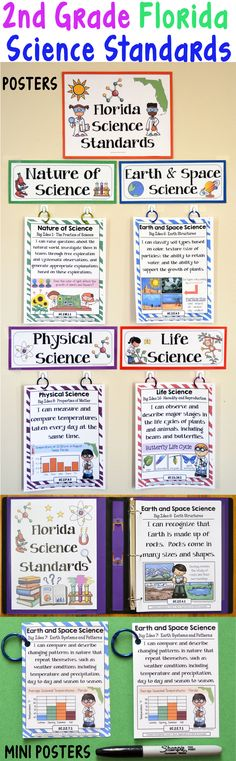 2nd Grade Florida Science Standards - This bundle includes posters in various formats and sizes with I can statements and associated example illustrations for each of the 2nd Grade Florida Science Standards.