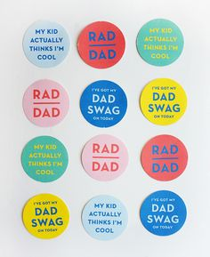 Printable Dad Swag Stickers | Oh Happy Day! | Bloglovin'