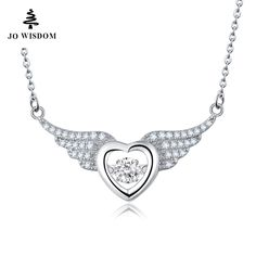sale jo wisdom silver fine jewelry necklaces silver chain with dancing natural topaz love angel wings #silver #angel