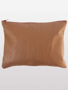 American Apparel - Large Leather Carry-All Pouch. One in Black & Cream as well!