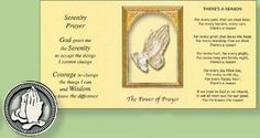 Pocket Token & Booklet with Serenity Prayer. Serenity Prayer, Special Words, Catholic Gifts, Inexpensive Gift, Booklet, Prayers, Prayer