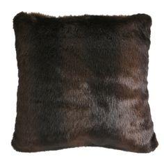 Adirondack Bear Fur Throw Pillow