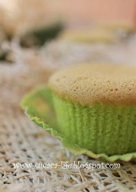 XUCACA Pandan Chiffon Cake, Cake Recipes, Muffin, Breakfast, Sweet, Butter, Food, Cakes, Morning Coffee