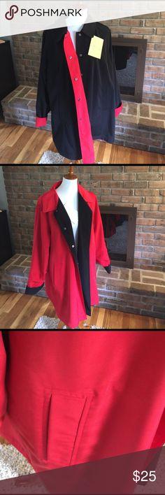 Ladies Plus Size Water Repellent Reversible Coat Reversible Coat Plus Size Coat