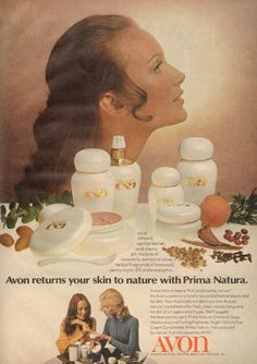 Avon Prima Natura (February 1971)  This is a rare line I have not had any of these products