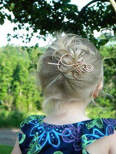 Gift Heart Hair Clip Hair Accessories Hair by ElizabellaDesign, $19.00