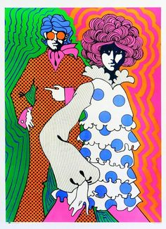 Psychedelic Groovy Retro Lovers 60s Vintage Art