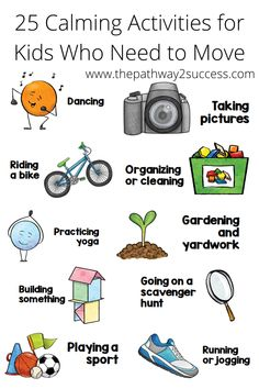 25 meaningful calm-down activities for children and young adults. All students need coping strategies to help them manage stress and tough emotions. Use this list with ideas to help kids develop the social emotional skills they need for success. This would be a great resource to share with special education teachers, classroom teachers, and parents! #socialemotionallearning Emotions Activities, Calming Activities, Activities For Kids, Social Emotional Learning, Fun Learning, Teaching Kids, Anger Management For Kids, Classroom Management, Emotional Regulation