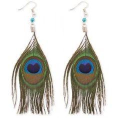 Long and elegant peacock feathered hook ear rings! #womens #jewelry #earrings #peacock #zad #christmas #gifts #wishlist #style #fashion $7.99 http://www.thinkfasttoys.com/ZadJewelry-E512-ZADLongandElegantPeacockFeatherHookEarringsonSilverFishHooksandBlueBeadedAccent/dp/B003Y9SR90