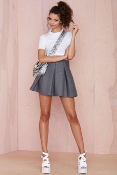 Bonding Time Scuba Skirt | Shop What's New at Nasty Gal