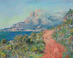 La Route rouge près de Menton (C Monet - W 889),1884.