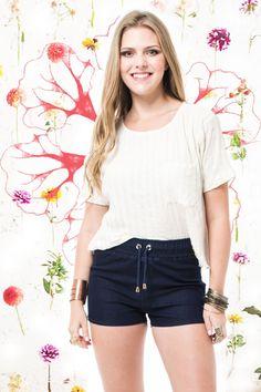 Shorts Jeans Eco Blue R$ 139,90 - Terra da Garoa Verão 16 - Moda Sustentável feita com amor