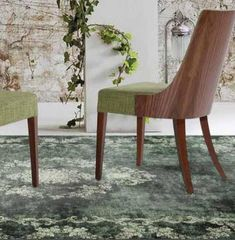 Soprano Dark Green Area Rug – La Dole Rugs #green #cream #rug #indoor #nonskidding #lowpile #designer #stylish Blue Ivory, Woven Rug, Beige Area Rugs, Dining Chairs, Indoor, Green Cream, Traditional, Bloomsbury, Oriental