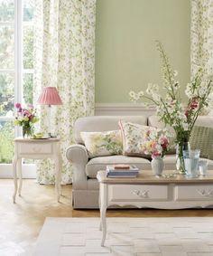 grüne einrichtung fürs wohnzimmer | wandfarben | Pinterest ...