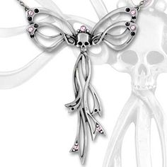 Alchemy-Gothic-Martrimony-Skull-Bow-Necklace-0