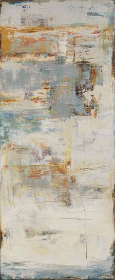 "Cliffhanger----72"" x 30"" Oil and cold wax by Martha Rea Baker"