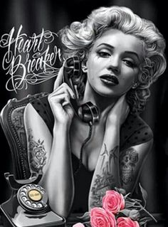 Day of the dead the dead and marilyn monroe on pinterest for Marilyn monroe tattoo canvas