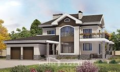 365-001-Л Проект двухэтажного дома, гараж, современный коттедж из кирпича,