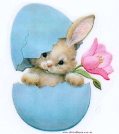 Easter bunny, egg, and flower Bunny Art, Cute Bunny, Easter Art, Easter Crafts, Ostern Wallpaper, Easter Bunny Pictures, Diy Ostern, Pintura Country, Easter Parade