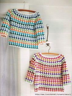 Child's Crochet Jumper Pattern Fit Ages: 10 years. Child's Crochet Jumper Pattern Fit Ages: 10 years. Blouse Au Crochet, Crochet Jumper Pattern, Jumper Patterns, Crochet Jacket, Crochet Patterns, Crochet Toddler Sweater, Knitting Patterns, Crochet Ideas, Pull Crochet