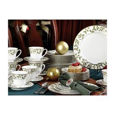 Found it at Wayfair - Holly and Berry Gold Dinnerware Collection