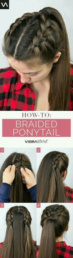 Trendy braided ponytail ❤