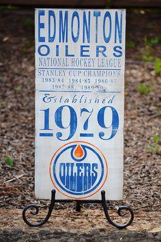 Edmonton Oilers Hockey Established 1979 by DollickDesigns