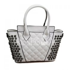 Wholesale Trendy Checked and Rivets Design Women's Shoulder Bag Only $12.20 Drop Shipping | TrendsGal.com