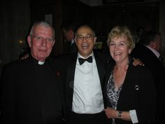 Father John Joyce, Mike Lawless and Ann Joyce