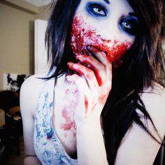 Halloween makeup zombie