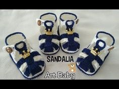 Sapatinho de Croche - Sandalia - Profª Fernanda Reis - PARTE 1 - YouTube