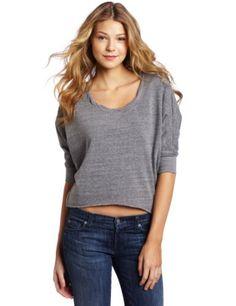 ad4547d510c62 Splendid Women`s Twisted Neck Sweater  92.00 Heather Grey