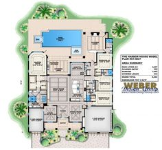 Beach House Plan: Luxury Caribbean Beach Home Floor Plan