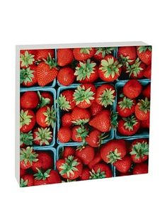 46% OFF Art Block Strawberries Fine Art Photography on Metal