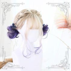 Lolita cute blond purple short wig SD01047 #Shoproads #onlineshopping #Hair Accessories