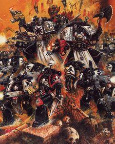 Warhammer 40k Art, Warhammer 40k Miniatures, Warhammer Fantasy, Black Templars, Space Wolves, Game Workshop, Geek Art, Space Marine, Sci Fi Art