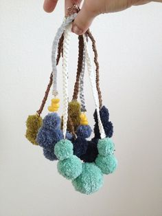 PomPom Necklaces - b